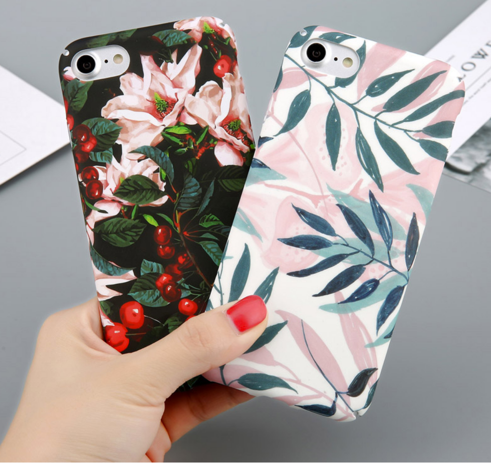 Cherry Flower Phone Case palm tree pink