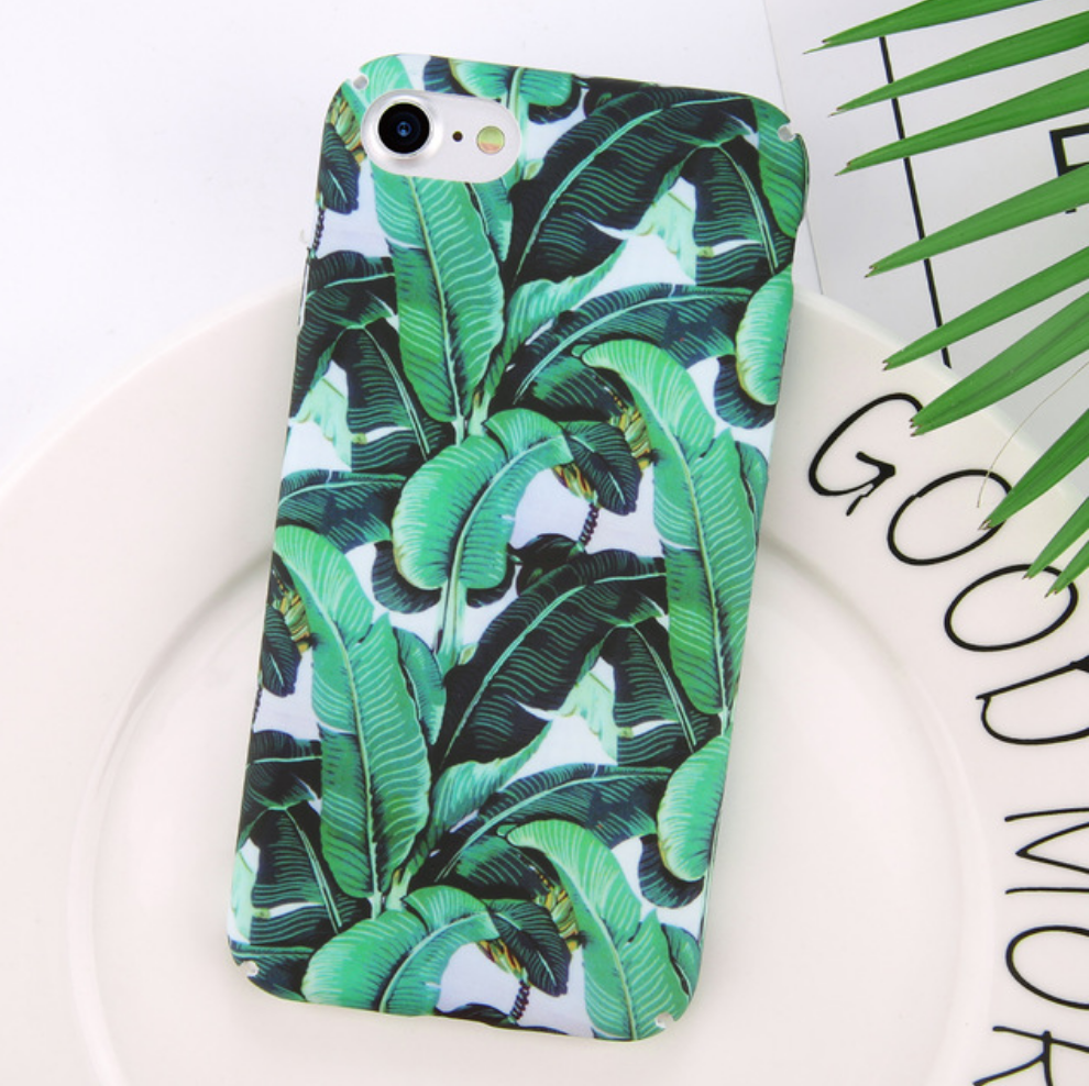 Tropical Green Palms Phone Case