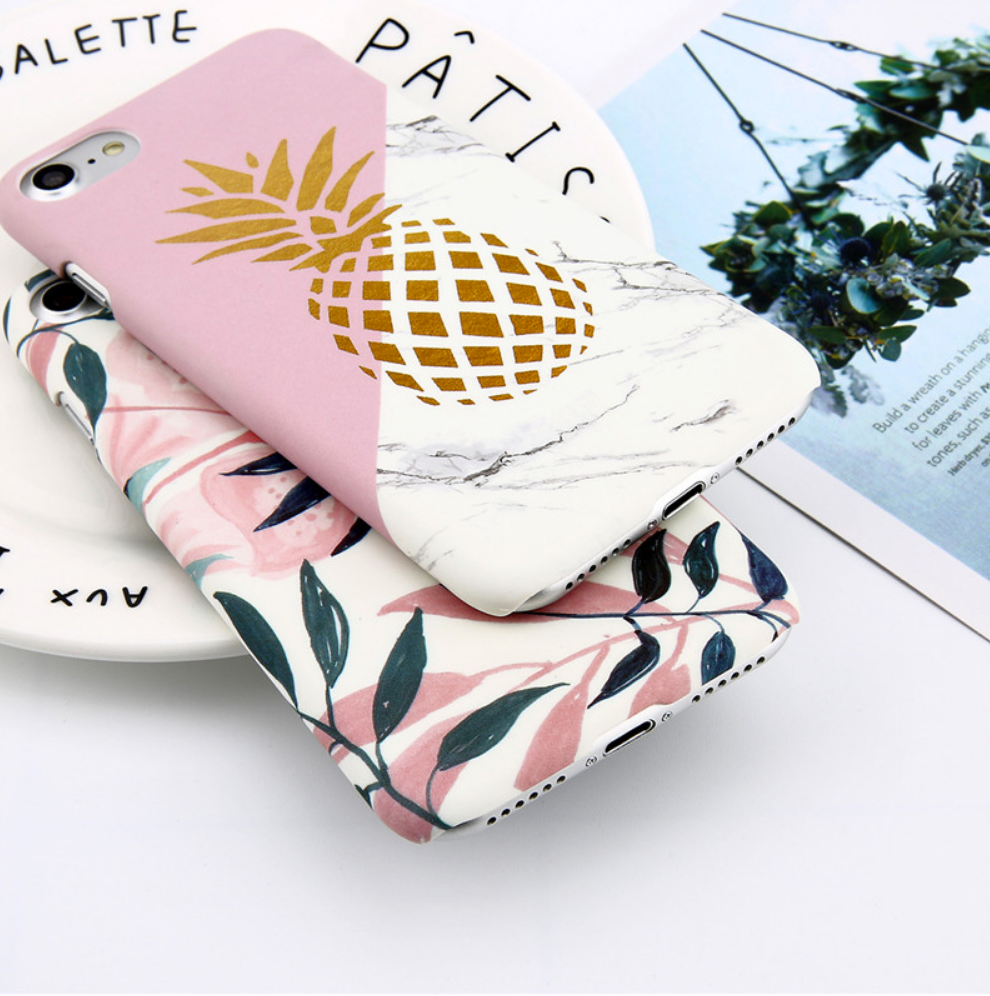 Pineapple Marble Pink design Phone Case