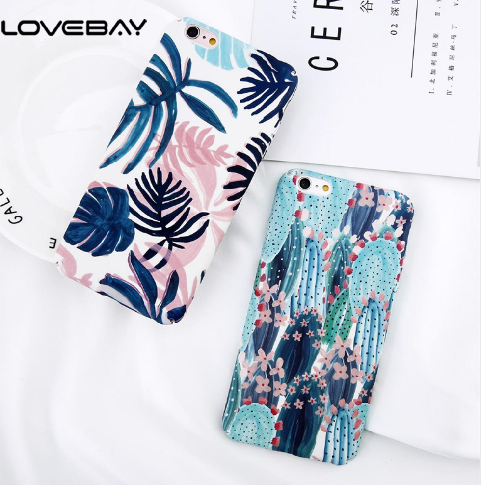 Cactus Flower Phone Case AND PALM TREE CASE