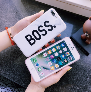 Boss White Marble Phone Case WHITE