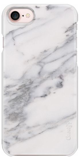 Black and White mix Marble Phone Case view