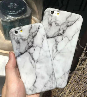 Black and White mix Marble Phone Case
