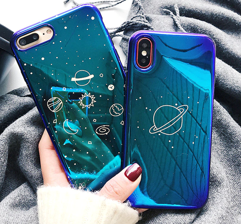 Blue Chrome Universe Phone Case