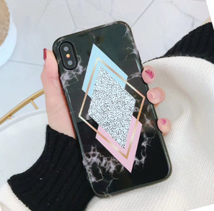 Candy Marble Black Phone Case