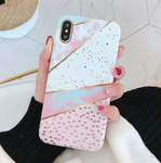 Candy Pink and White Marble Phone Case