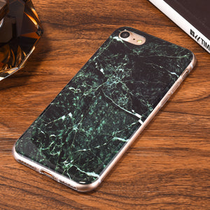 Glossy Green Marble Phone Case