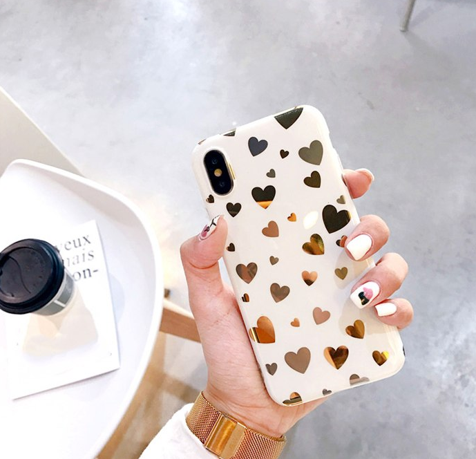 Golden Hearts Phone Case
