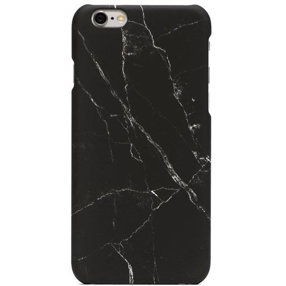 black all marble phone case product