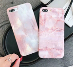 Pink Marble Glossy Phone Case