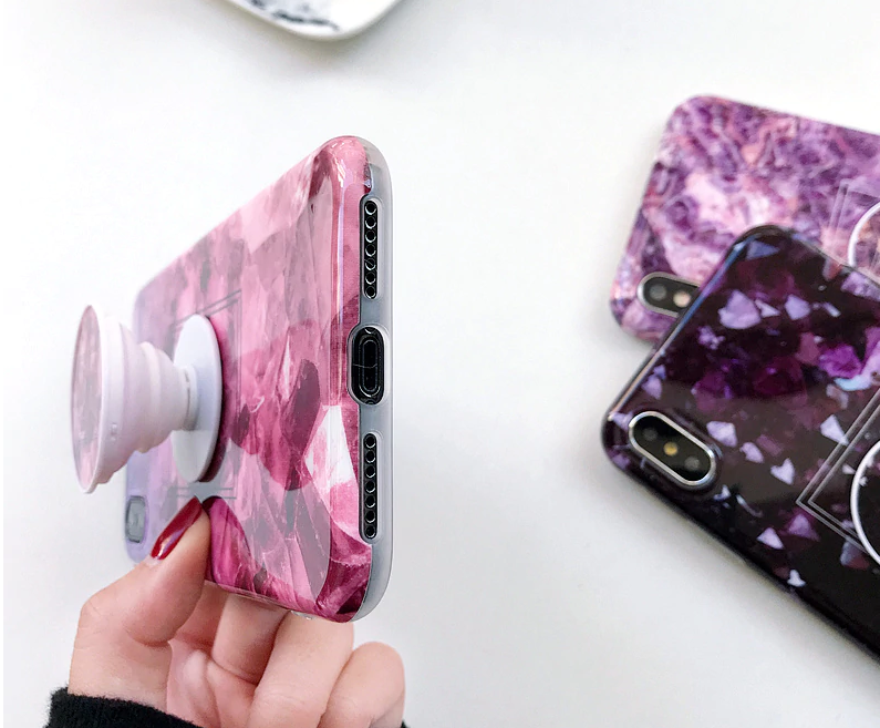 Quartz style Phone case + Phone Holder