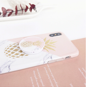 Pineapple Marble Pink Design + Phone Holder