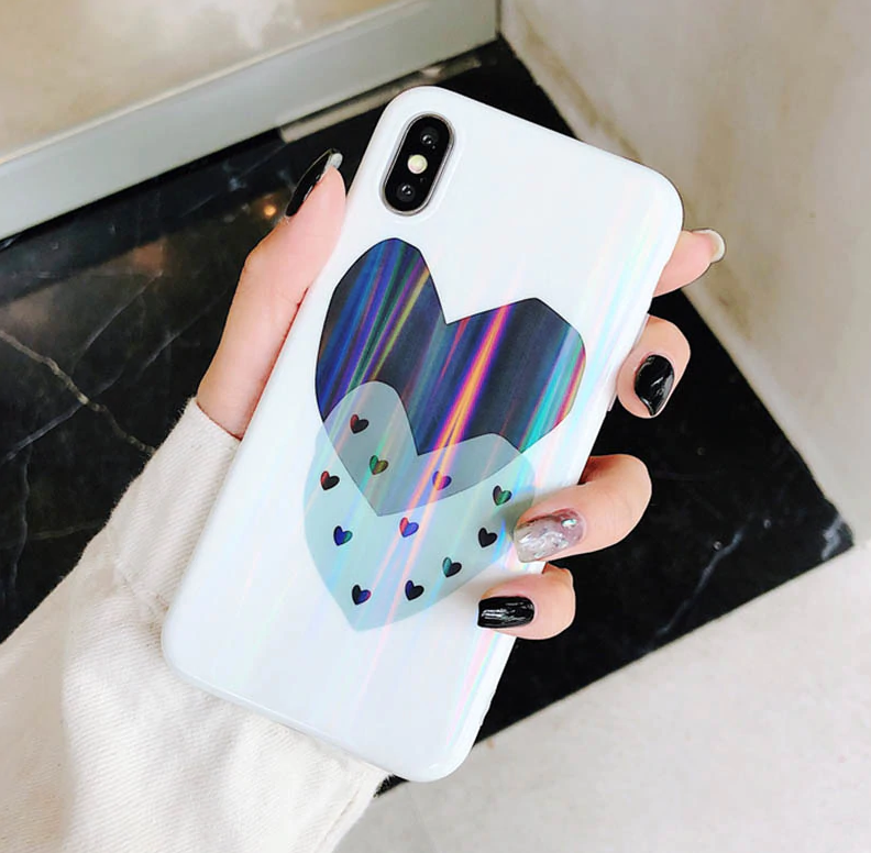 Laser Hearts Phone Case