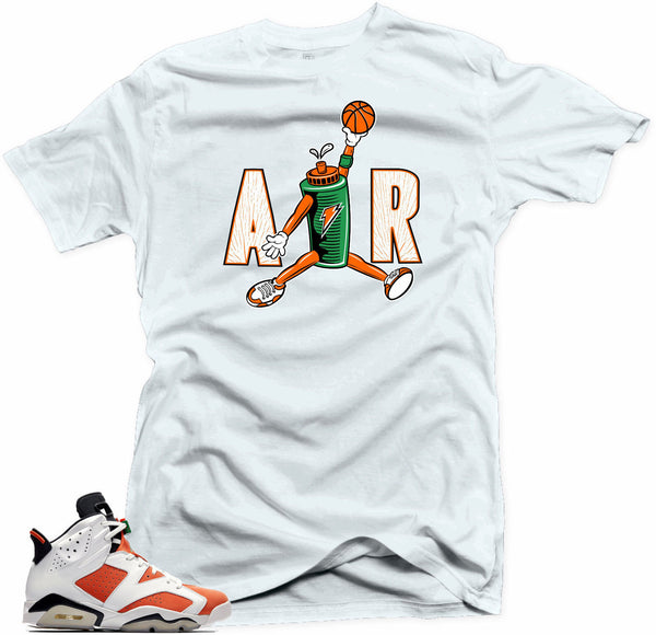 Jordan 6 Gatorade Shirt-AIR White Tee