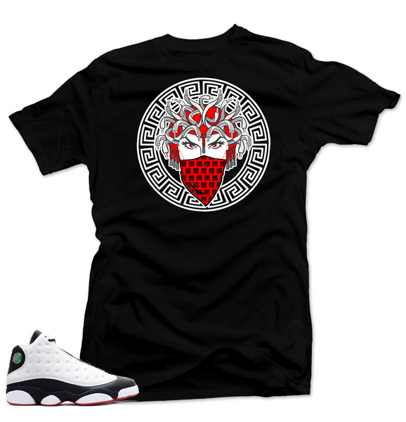 Shirt to Match Jordan 13 He Got Game Shirt-MEDUSA Black Tee