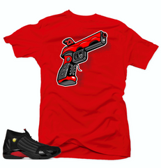 Jordan 14 Last Shot Shirt-9 MM Red  Tee