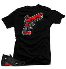 Jordan 14 Last Shot Shirt-9 MM Black Tee