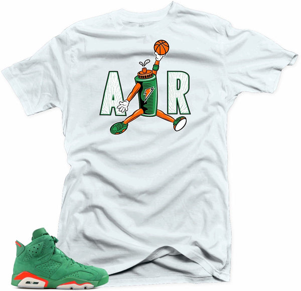 Shirt to  match Jordan 6 NRG Gatorade. AIR White tee
