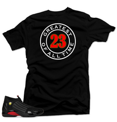 Jordan 14 Last Shot Shirt-GREATEST Black Tee