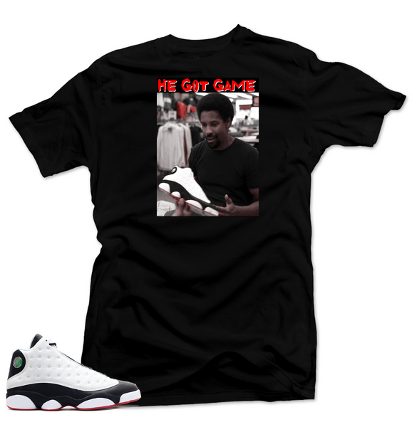 Shirt to Match Jordan 13 He Got Game Shirt-HE GOT GAME Black Tee