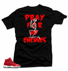 Jordan 11 Win like 96 Shirt-MY ENEMIES Black Tee