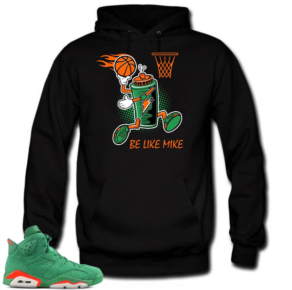 Hoodie to match Jordan Retro 6 NRG Gatorade Sneakers. Be like mike Black