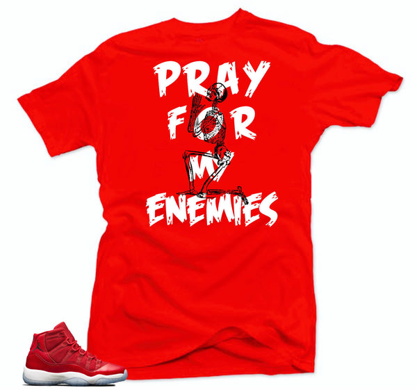 Jordan 11 Win like 96 Shirt-MY ENEMIES Red Tee