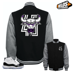 Jordan 11 Concord Match Shirts-Bull 45 Black Jacket