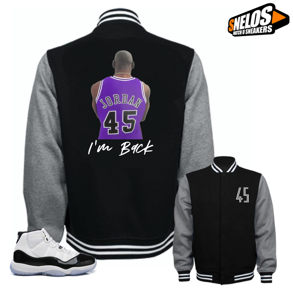 Jordan 11 Concord Match Shirts-I'm Back Black Jacket