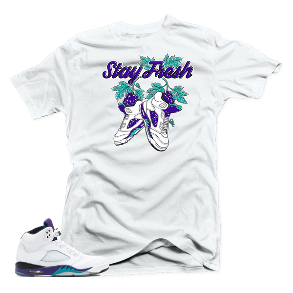 Jordan 5 Grape Fresh Prince. Fresh White Tee