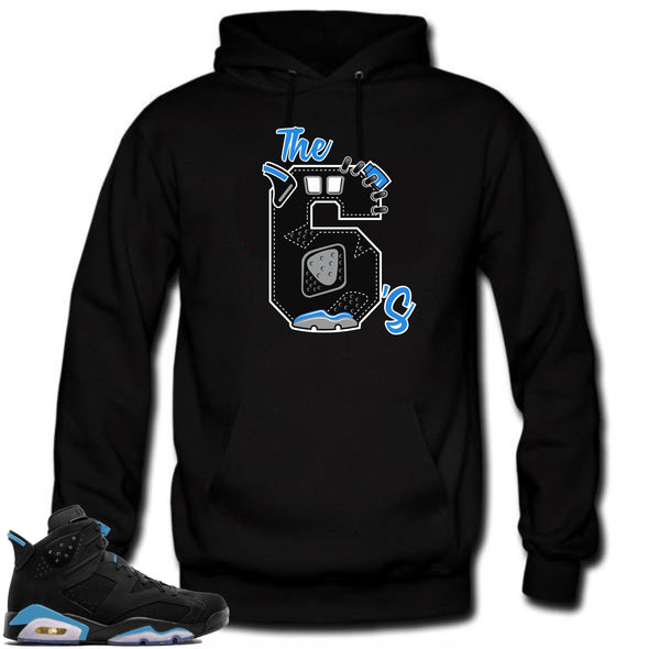Jordan Retro 6 UNC Sneakers.The 6's Black Hoodie