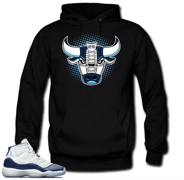 Jordan 11 Navy Win like 82 sneakers. Bull 11 Black Hoodie