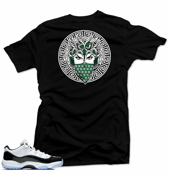 Jordan 11 low Emerald Shirt-MEDUSA Black Tee
