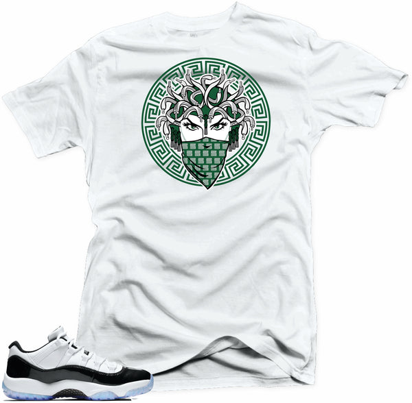 Jordan 11 low Emerald Shirt-MEDUSA  White Tee