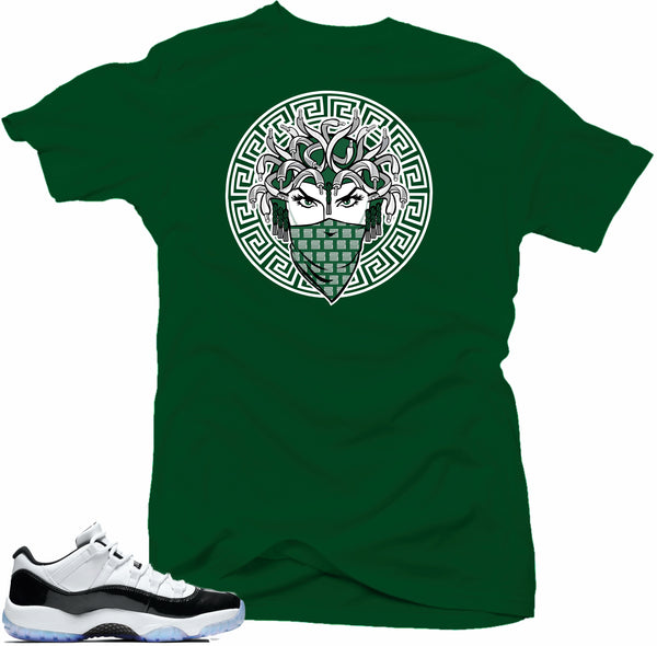 Jordan 11 low Emerald Shirt-MEDUSA Green Tee