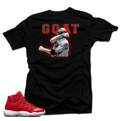 Shirt To Match Jordan 11  Win like 96 Shirt-GOAT Black Tee