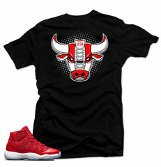 Jordan 11 Win like 96 Shirt-BULL 96 Black Tee