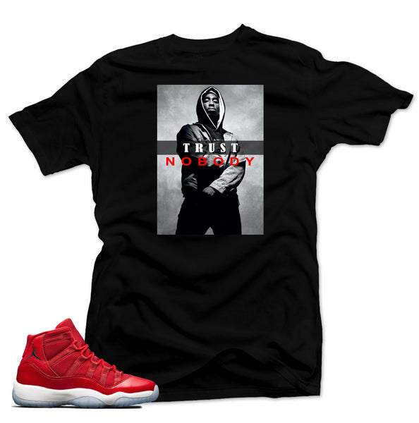Jordan 11  Win like 96 Shirt-TRUST NO BODY Black Tee