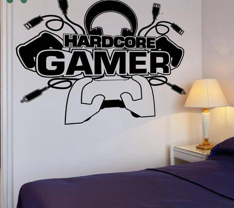Hardcore Gamer Wall Decal