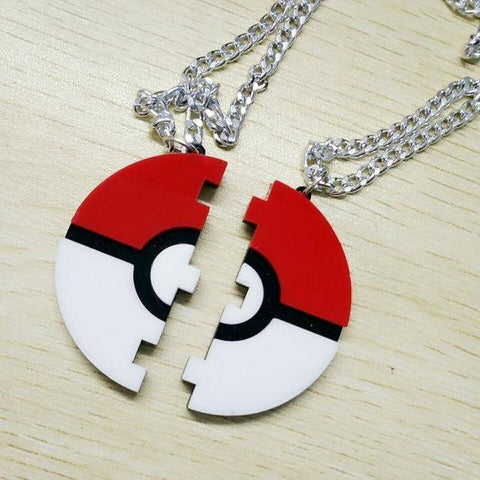 Pokeball Split Necklace
