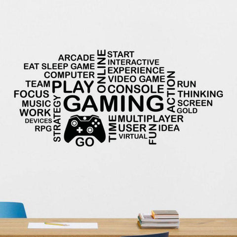 Gamer Word Bubble Wall Decal