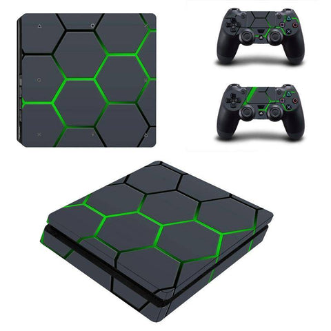 Radioactive Hexagon PS4 Console and Controller Cover