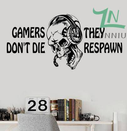 Gamer Respawn Wall Decal