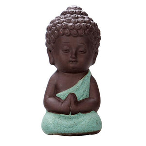 Figurines - Clay Buddha Monk Figurine