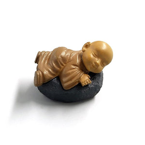 Figurines - Playful Miniature Buddha Monks