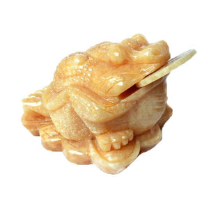 Ornaments - Chinese Golden Jade Prosperity Toad