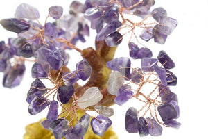 Ornaments - Crystal Bonsai Prosperity Tree (Amethyst Leaves)