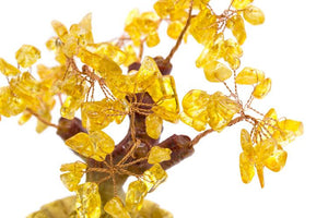 Ornaments - Golden Prosperity Tree (Citrine Leaves)