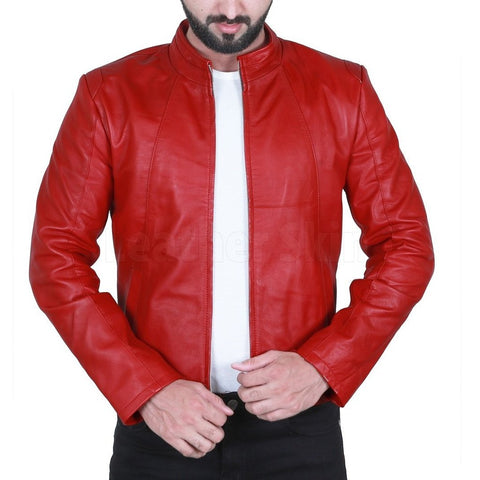 Dashing-Red-biker-Leather-Jacket