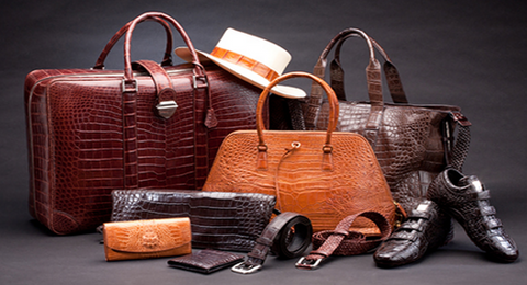 Leather Bags with Crocodile Pattern